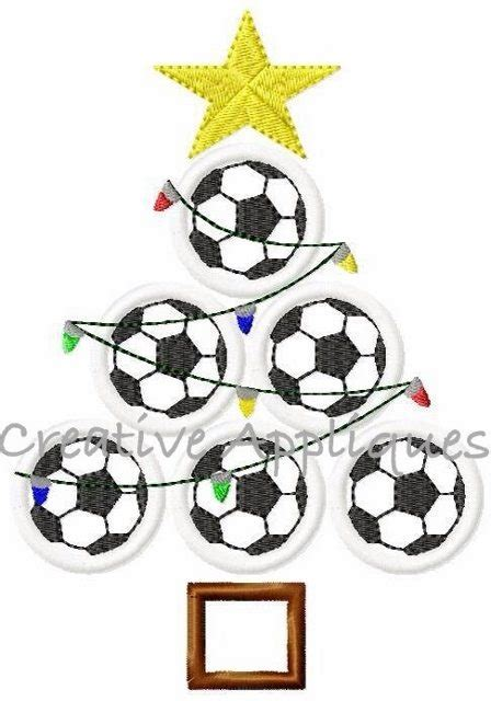 soccer christmas tree applique