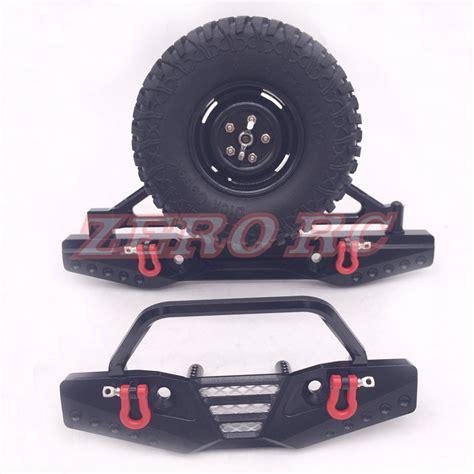 Bumper Set Bumbee 1 1 10 rc axial scx10 cnc aluminum front bumper bull bar rear bumper with carrier set black in