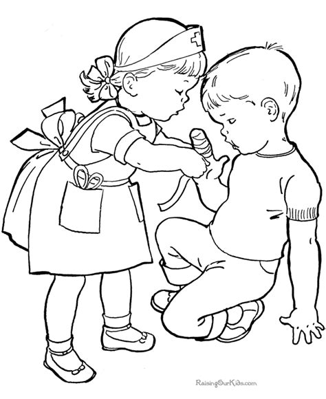 Helping Others Coloring Pages Coloring Home Coloring Pages For Kid