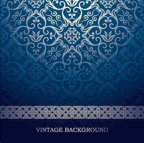 vector pattern definition 美しく反射する藍色パターンの背景 blue european pattern vector background