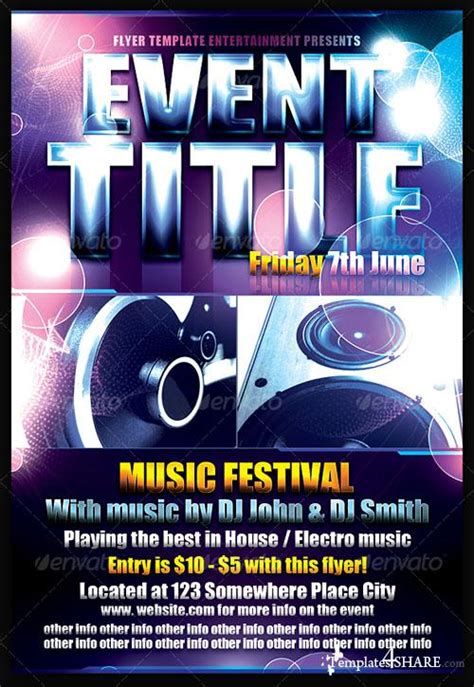 Graphicriver Event Flyer Template 187 Templates4share Com Free Web Templates Themes And Graphic Graphicriver Flyer Template