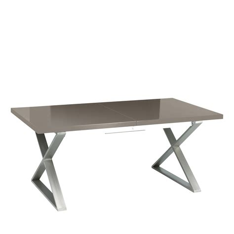 Crossed Leg Dining Table Crossed Leg Gloss Extending Dining Table Dwell