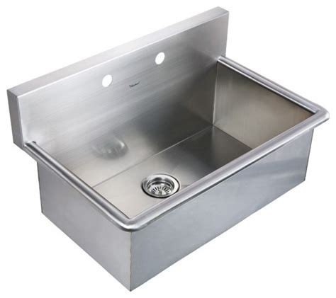 Laundry Room Sinks Stainless Steel with Whitehaus Whnc3120 31 Quot Noah Stainless Steel Laundry Utility Sink Modern Kitchen Sinks By
