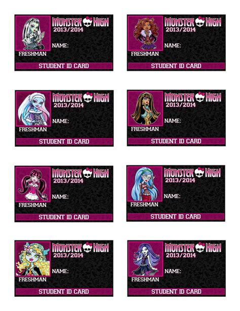 make a student id card printable high character id card favors