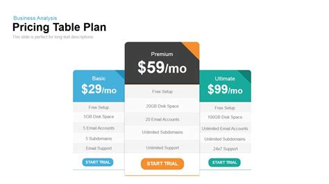 pricing plan template stock photos pricing plan template stock pricing table plan powerpoint keynote template slidebazaar