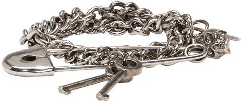 Mcqueen Safety Pin Purse by Mcqueen Silver Three Chain Pin Bracelet Ssense