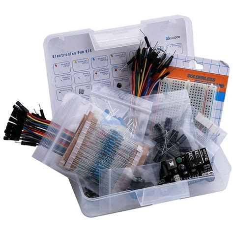 breadboard resistor kit buy electronic kit bundle with breadboard cable resistor capacitor led potentiometer 235
