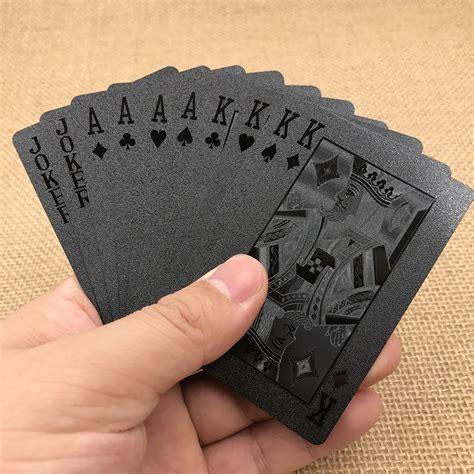 Diamond Gift Card - golden poker waterproof black plastic playing cards collection black diamond poker