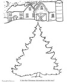 decorate the christmas tree printable coloring pages