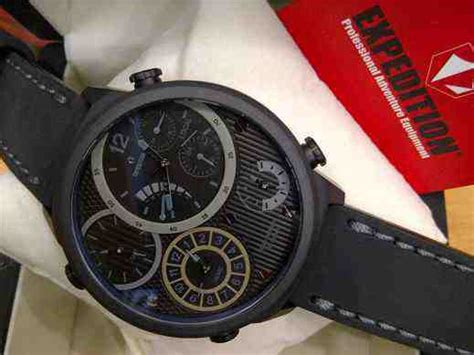 Jam Tangan Pria Original Expedition 6623 Mtlpubayl jual expedition 6623 4 timer black steel black leather
