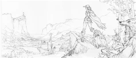 Witcher 3 Sketches by Witcher 3 By Marcin Karolewski 76 Escape The Level