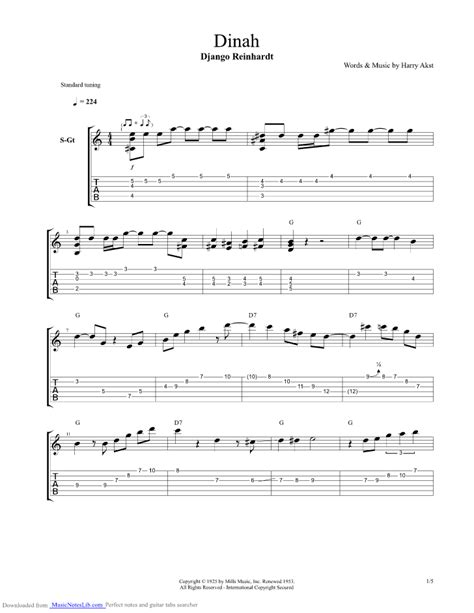 swing gitan tab dinah guitar pro tab by django reinhardt musicnoteslib com