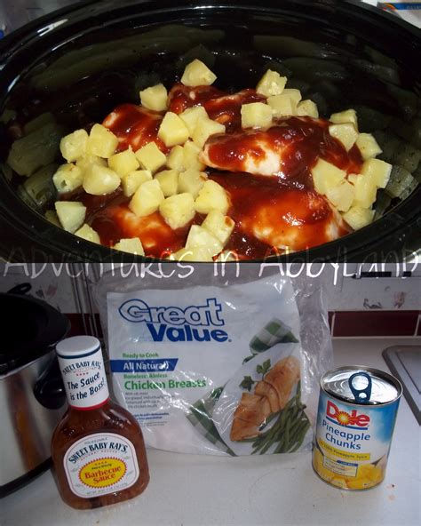 dinner ideas crock pot hawaiian bbq chicken