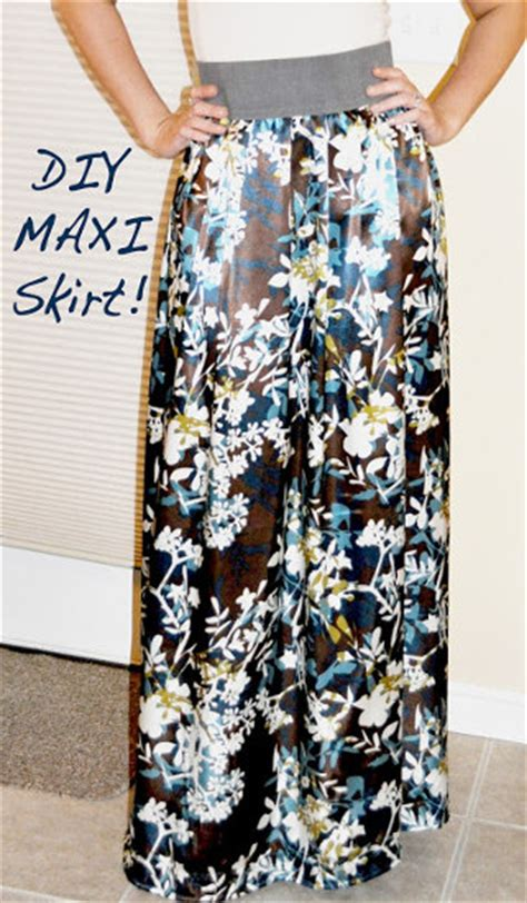 make your own diy maxi skirt tutorial that is easy