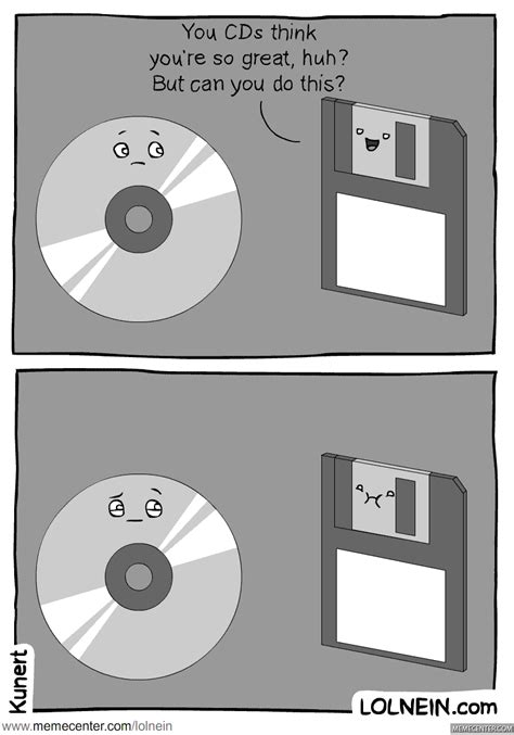 Cd Meme - cd vs floppy disk by lolnein meme center