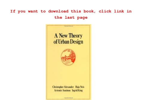 a pattern language christopher alexander ebook free download download a new theory of urban design center for
