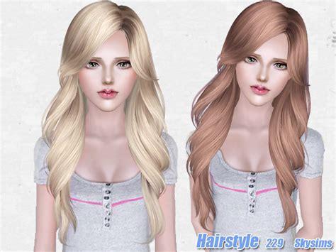 the sims 3 cc hair skysims hair 229 set