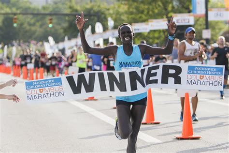 columbus dispatch sports section first time is charm for columbus marathon women s winner