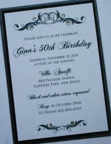 formal birthday invitation templates black and white elegance formal birthday invitation