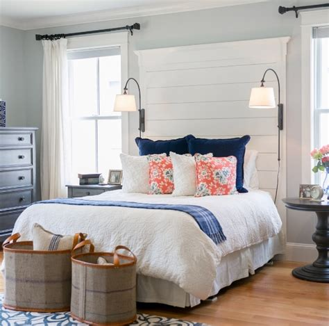 unique master beds farmhouse style bedroom with unique wall mount ls