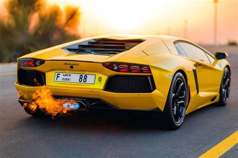 Lambo Aventador Flames   MadWhips