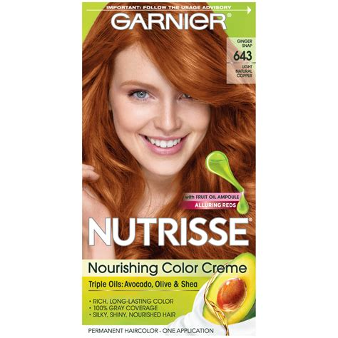 garnier hair colour models garnier 643 light natural copper nourishing color creme 1