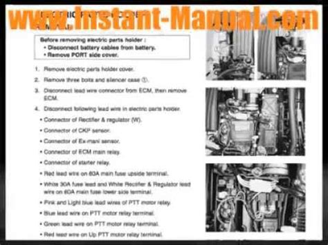 small engine repair manuals free download 2005 mercury mountaineer instrument cluster yamaha outboard 40hp 40 hp factory service manual pdf youtube