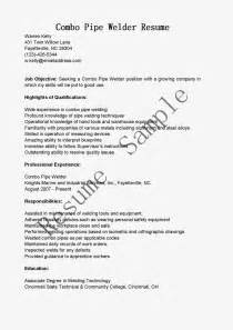 Pipe Welder Sle Resume by Resume Sles Combo Pipe Welder Resume Sle