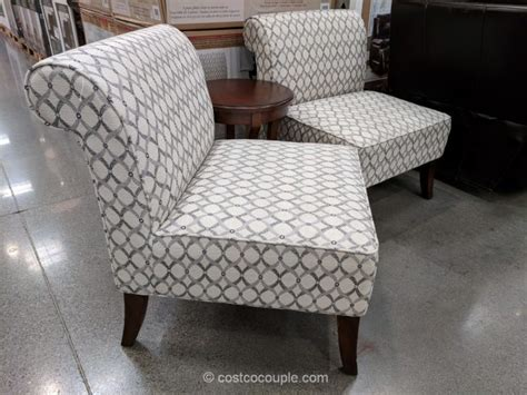avenue six chairs costco ave six 3 fabric chair and accent table set
