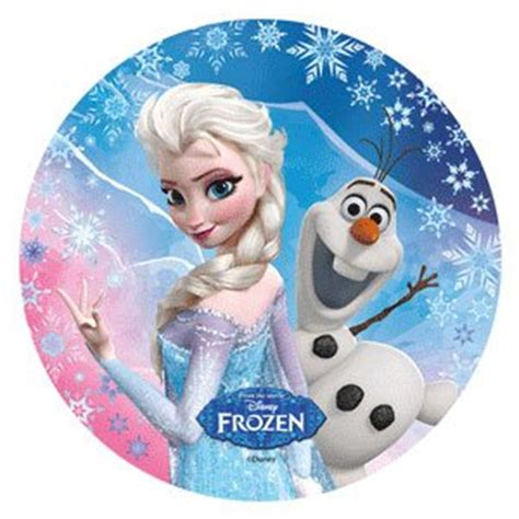 disney frozen cake topper  cm edible wafer rice paper  cup cake decoration birthday party