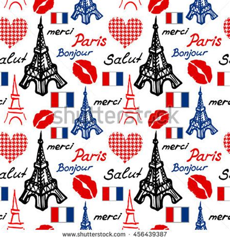 travel pattern in french travel sticker stock vector 135246515 shutterstock
