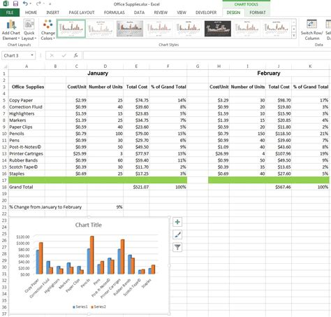 excel chart layout 5 excel 2013