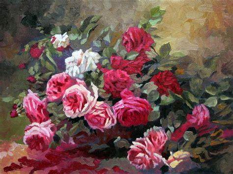 pitture di fiori pittura a olio di fiori pittura e calligrafia id prodotto