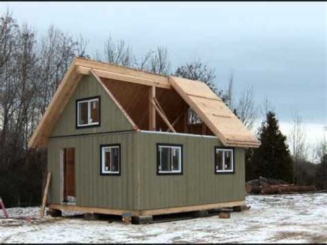 Lake Cottage Plans With Loft The Collingwood Cabin 480 Sq Ft Youtube