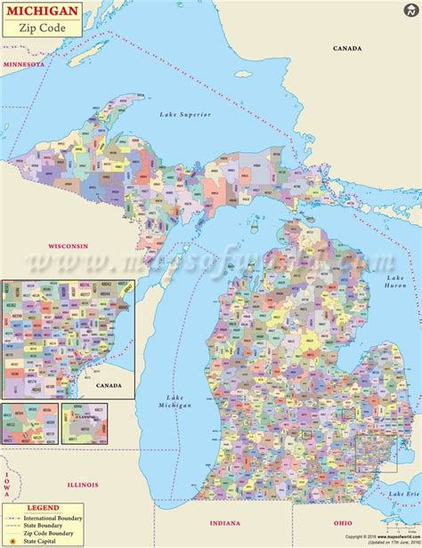 pontiac mi zip codes michigan zip code map michigan postal code