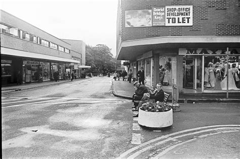 bench street relaxing on a bench in lord street wrexham 1975 wrexham