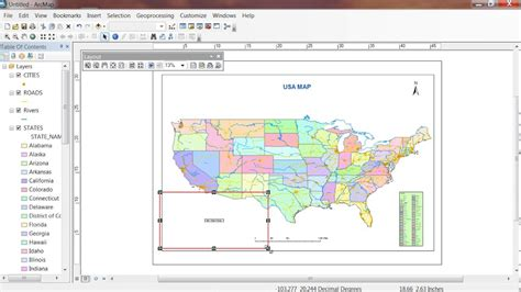 map layout in arcgis 10 create layout for printing map in arcgis 10 5 youtube