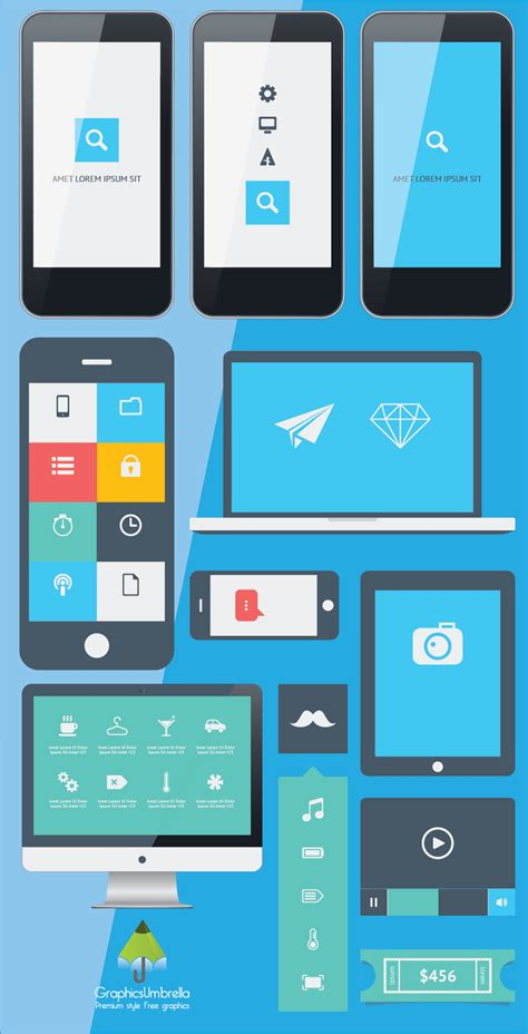 app design elements vector vector iphone app ui design designscanyon