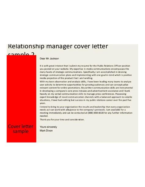 Relationship Manager Cover Letter by Customer Relationship Manager Cover Letter Sles And Doc 650819 Customer Relations Manager