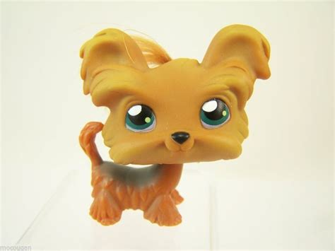 littlest pet shop yorkie caramel brown hair brown hairs