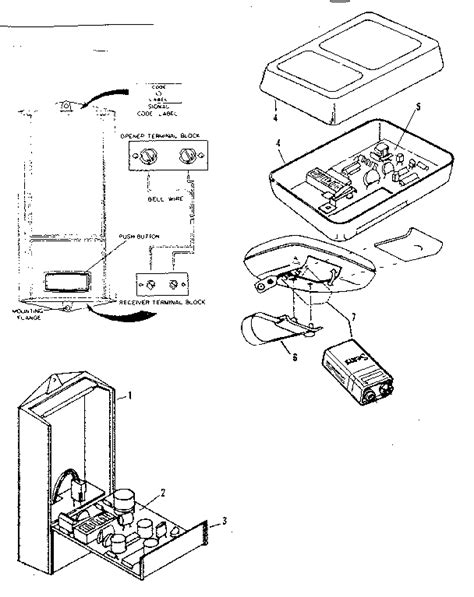 Craftsman Garage Door Opener Parts Diagram Radio Controls Diagram Parts List For Model 139655400 Craftsman Parts Garage Door Opener Parts