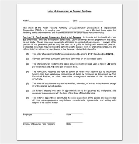 appointment letter format for hotel employees appointment letter format for hotel employees 28 images