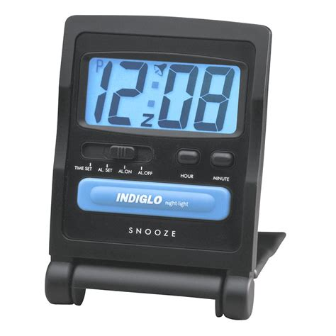 timex digital travel alarm clock black 3502tw