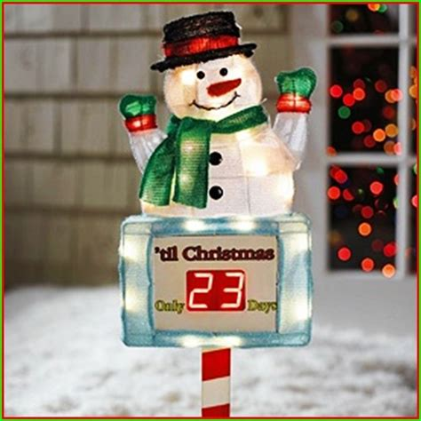 snowman countdown to christmas outdoor lighted stake