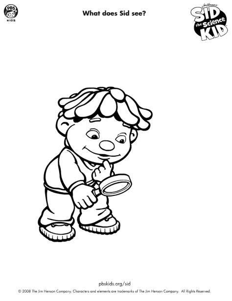 Sid The Science Kid Coloring Pages free science lab coloring pages