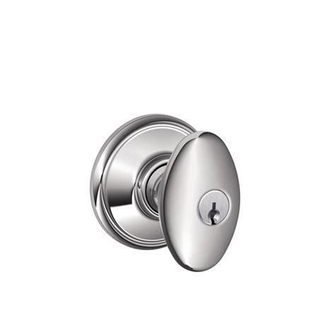 Schlage Chrome Door Knobs by Shop Schlage F Siena Bright Chrome Keyed Entry Door Knob