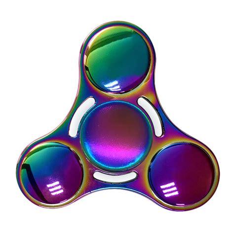 rainbow tri fidget spinner multi color jakartanotebook