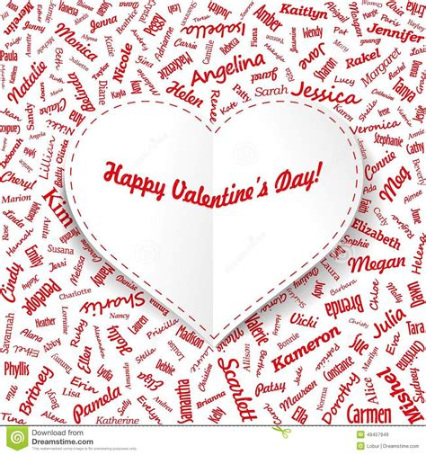 other names for valentines day card from s names with title
