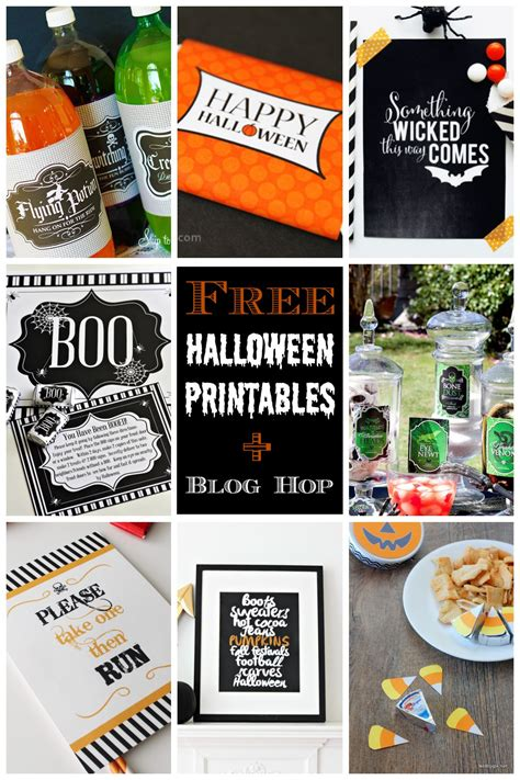 free printable halloween party decorations 8 free printable halloween party ideas blog hop