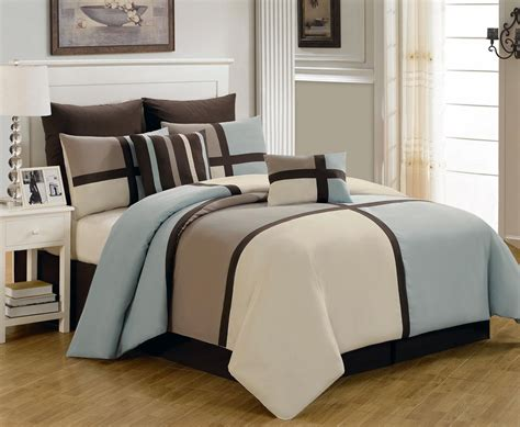 8 piece king picasso blue comforter set